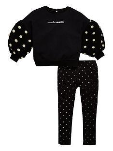 56d30e46f374 Mini V by Very Girls Spot Sweatshirt   Legging Outfit