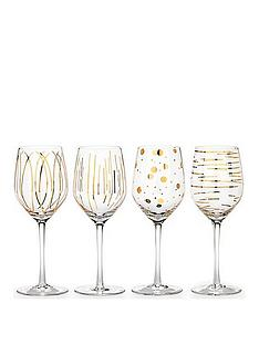 creative-tops-mikasa-cheers-metallic-gold-wine-glasses-ndash-set-of-4
