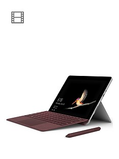 microsoft-surface-go-intel-pentium-gold-processor-4415y-8gbnbspramnbsp128gbnbspssd-10-inchnbsptouchscreen-2-in-1-laptop-with-burgundy-type-cover