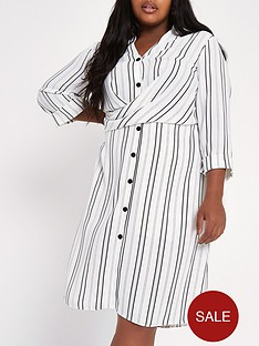 ri-plus-striped-waisted-shirt-dress--nbspmulti