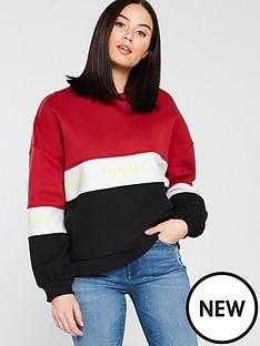 tommy-jeans-crew-colour-blocked-striped-balloonednbspsweatshirt-multi