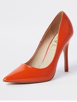 Dark Orange Court Island Shoe Patent River Stiletto  Cheap Sale Low Cost Free Shipping Geniue Stockist kb0yB8Mdq