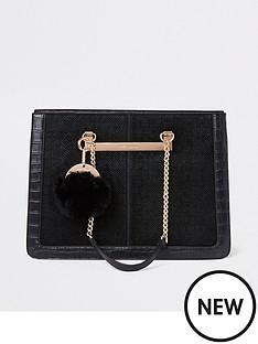 river-island-croc-chain-handle-tote-bag-black