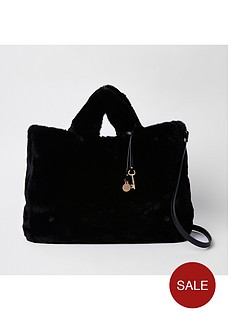river-island-river-island-oversized-faux-fur-shopper-bag-black
