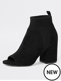river-island-sock-shoe-boot-black