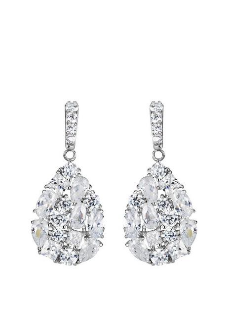 the-love-silver-collection-sterling-silver-mixed-cut-cubic-zirconia-teardrop-earrings