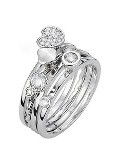 the-love-silver-collection-sterling-silver-white-cubic-zirconia-set-of-4-stackable-rings