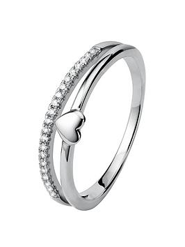 the-love-silver-collection-sterling-silver-white-cubic-zirconia-two-row-heart-ring