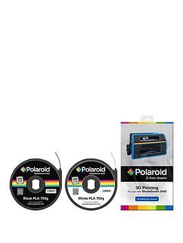 polaroid-polaroid-black-amp-white-pla-filament-amp-z-axis-sheets-bundle-for-3d-printer-includes-1-x-750g-cartridge-black-amp-1-x-750g-cartridge-white-amp-15-z-axis-sheets