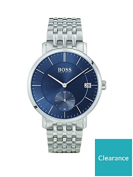 boss-corporal-blue-sunray-and-silver-detail-multi-dial-stainless-steel-bracelet-strap-mens-watch