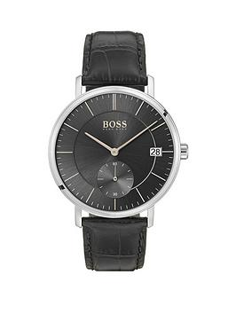 boss-corporal-black-sunray-and-rose-gold-detail-multi-dial-stainless-steel-black-leather-crocodile-strap-mens-watch