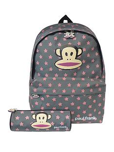 paul-frank-paul-frank-grey-with-peach-backpack-with-pencil-case