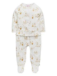 baker-by-ted-baker-baby-girls-bunnies-velour-sleepsuit-set