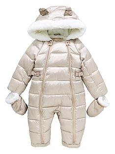 b3a20ddb5 Baker by Ted Baker Baby Girls Pearlised Snowsuit