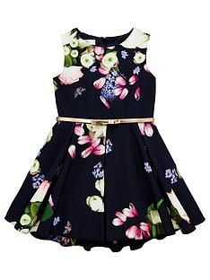 ac17ab386d76b Baker by Ted Baker Girls Floral Print Belted Prom Dress ...