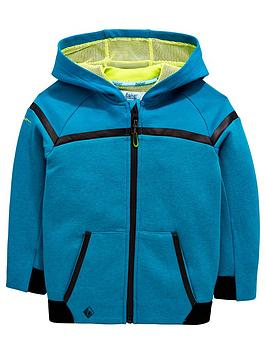 f3ef76933360bb Baker by Ted Baker Boys Modern Panel Hooded Zip Front Sweat Top - Green