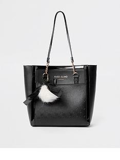 river-island-girls-black-ri-monogram-shopper-bag