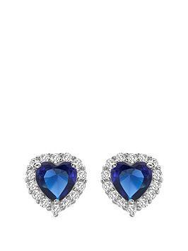 love-gem-9ct-white-gold-sapphire-cubic-zirconia-heart-stud-halo-earrings