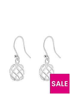 the-love-silver-collection-sterling-silver-ball-twist-drop-earrings