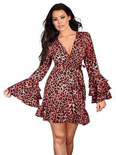 731c1582f96c Sistaglam Loves Jessica SISTAGLAM LOVES JESSICA ANIMAL PRINT WRAP DRESS