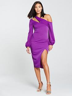 lavish-alice-one-shoulder-balloon-sleeve-midi-dress-bright-purple