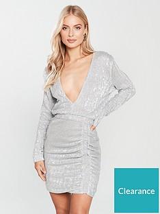 b537132df8c Lavish Alice Sequin Mini Dress - Silver Iridescent