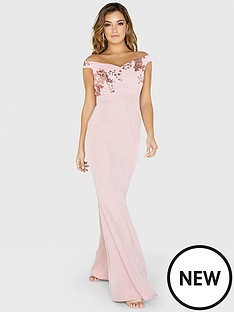 little-mistress-sequin-mesh-maxi-dress-rose