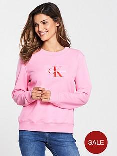 calvin-klein-monogram-flock-crew-neck-sweat-begonia-pink