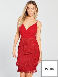 ax-paris-petite-petite-fringe-detail-mini-dress-red