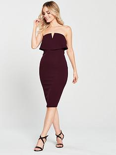 ax-paris-notch-front-bandeau-midi-dress--nbspplumnbsp