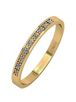 love-diamond-personalised-9ct-gold-5-point-diamond-25mm-wedding-band