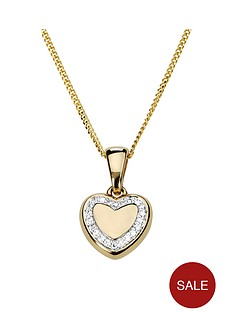 love-diamond-gold-plated-sterling-silver-diamond-set-heart-pendant-necklace
