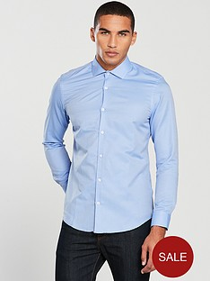 v-by-very-cut-away-collar-textured-shirt