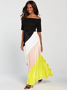 822aacf2f22 COAST Coast Rockafella Colour Block Pleated Dress