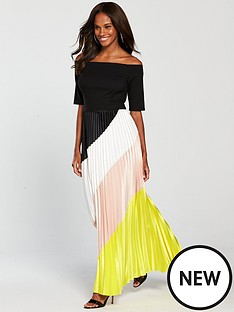 coast-coast-rockafella-colour-block-pleated-dress