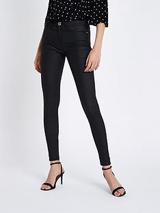 river-island-molly-coated-mid-rise-jeggings-black