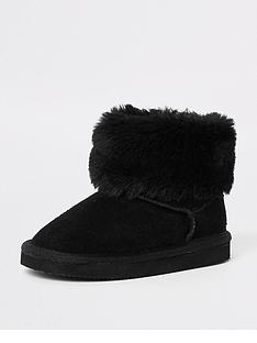 river-island-mini-girls-black-faux-fur-mini-ankle-boot