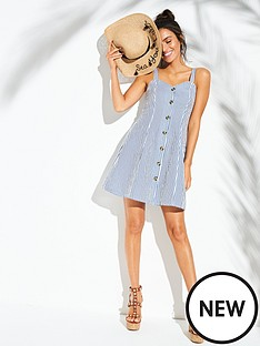 v-by-very-button-through-sweetheart-neck-beach-dress