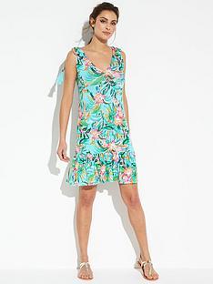 v-by-very-jersey-frill-hem-tassel-shoulder-beach-dress
