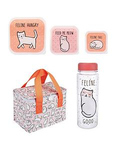 sass-belle-sass-and-belle-feline-lunch-bag-lunch-box-trio-and-water-bottle-set