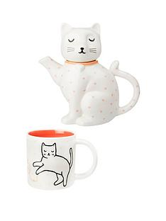 sass-belle-cat-teapot-and-mug-set