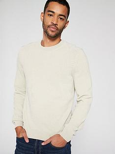 boss-chenille-crew-neck-jumper-oatmeal