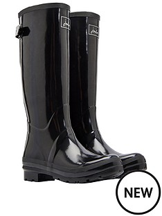 joules-field-gloss-welly-black