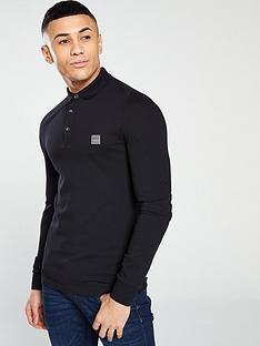 boss-long-sleeve-slim-fit-polo-shirt-black