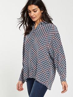 boss-ecluni-long-sleeve-printed-blouse-multi