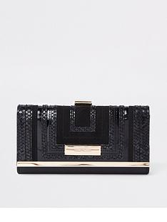 river-island-river-island-square-cutabout-cliptop-purse-black
