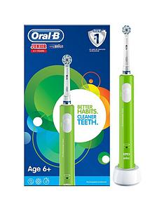 oral-b-oral-b-junior-electric-rechargeable-toothbrush-for-children-aged-6-in-green-2-pin-plug