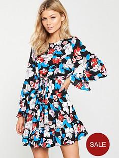 v-by-very-petite-floral-tie-waist-skater-dress-printed