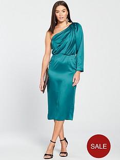 v-by-very-one-shoulder-evening-dress-greennbsp