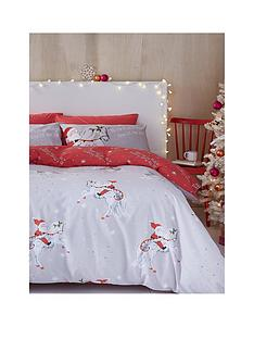 catherine-lansfield-christmas-unicorn-double-duvet-cover-set